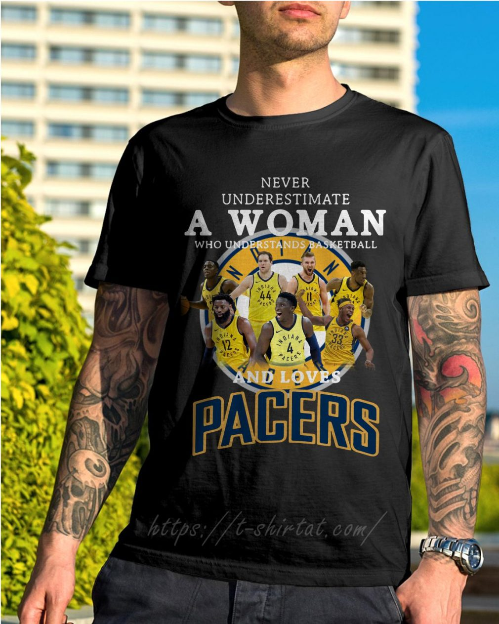 A woman who understands basketball and loves Pacers shirt