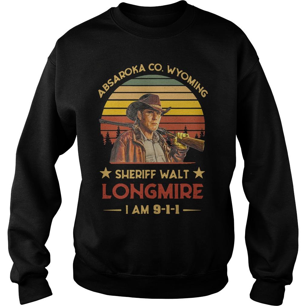Absaroka co wyoming sheriff walt longmire I am 9 1 1 vintage Sweater