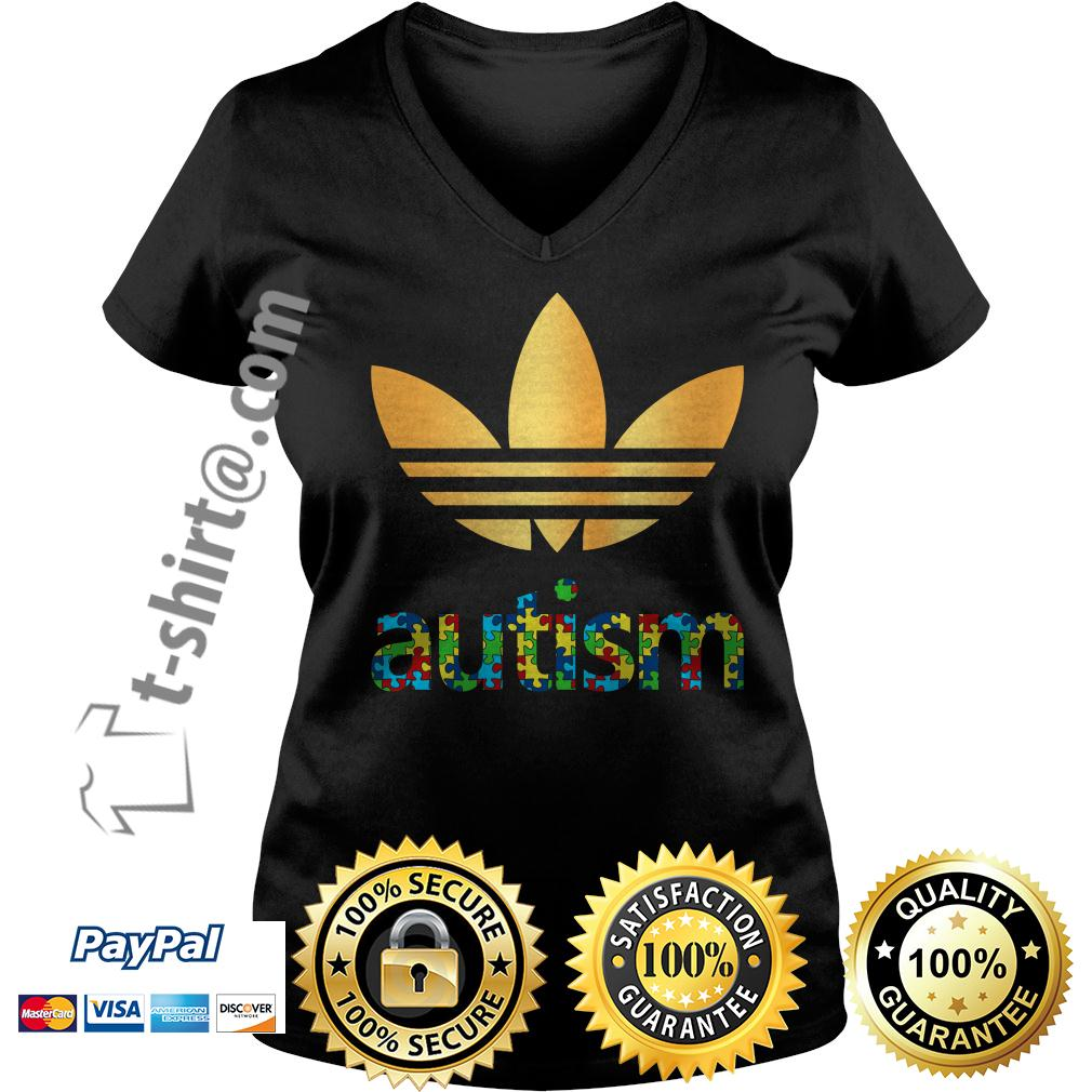 Adidas autism awareness V-neck T-shirt