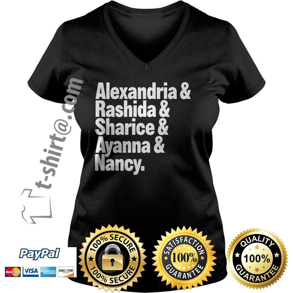Alexandria and Rashida and Sharice and Ayanna and Nancy V-neck T-shirt
