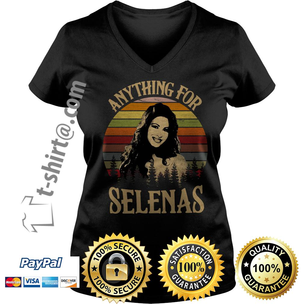 Anything for Selenas Quintanilla vintage retro V-neck T-shirt