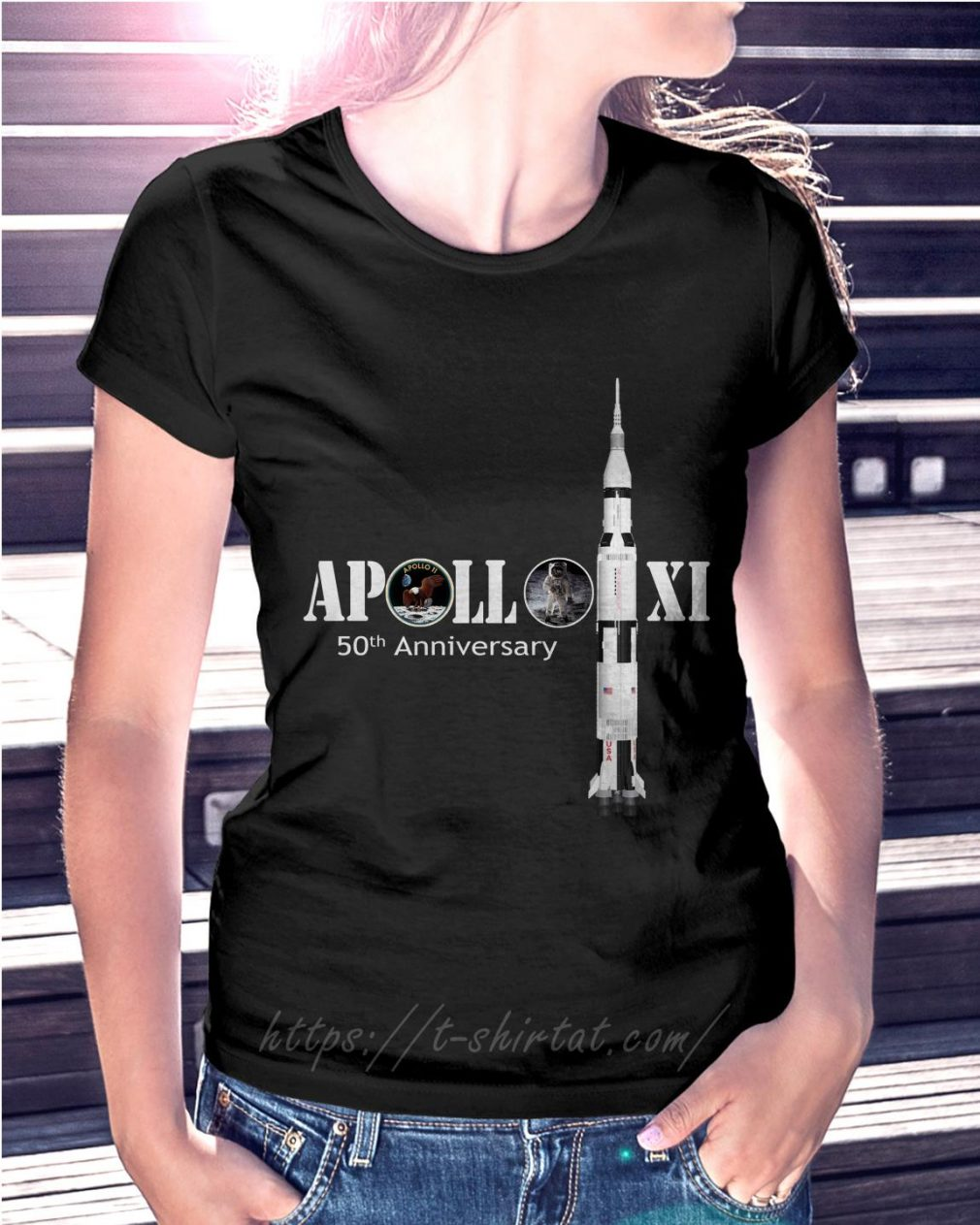 Apollo XI 50th Anniversary Ladies Tee