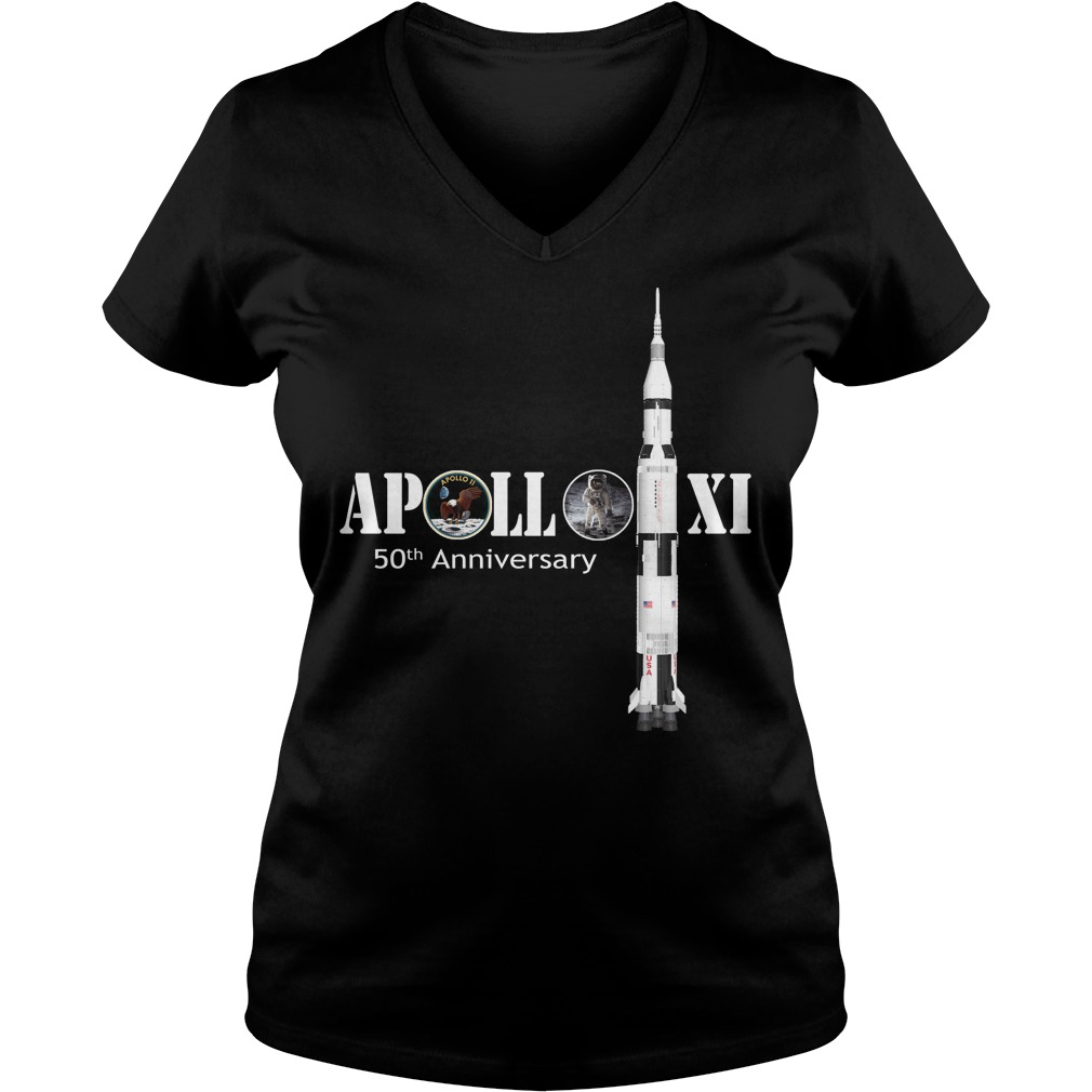 Apollo XI 50th Anniversary V-neck T-shirt