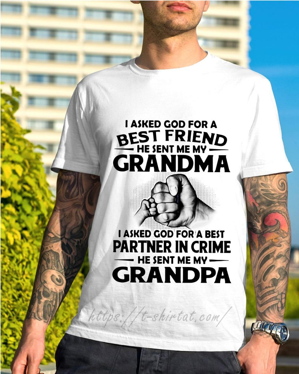 I asked God for a best friend he sent me my grandma shirt