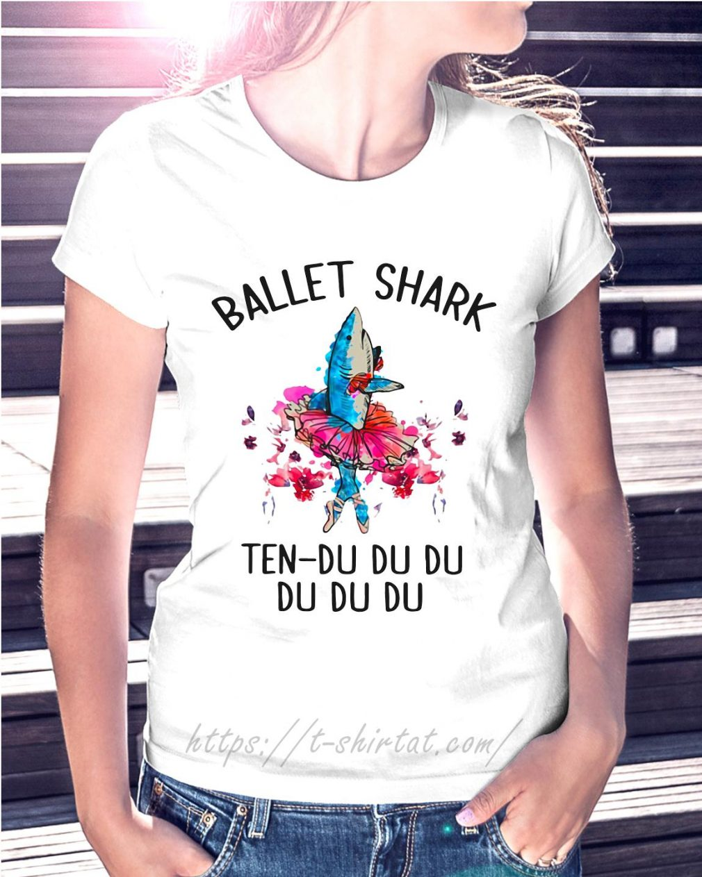Ballet shark ten-du du du du du du Ladies Tee