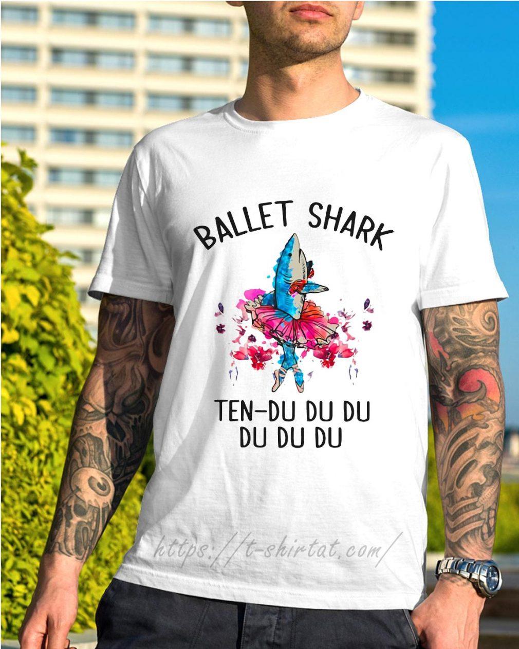 Ballet shark ten-du du du du du du shirt
