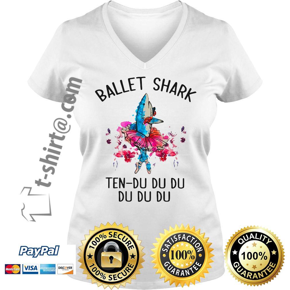 Ballet shark ten-du du du du du du V-neck T-shirt