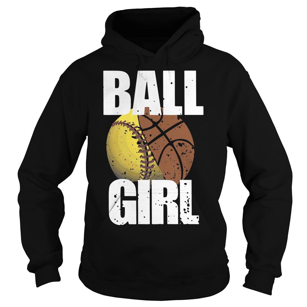Baseball ball girl Hoodie
