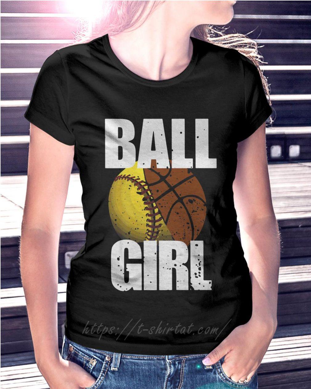 Baseball ball girl Ladies Tee