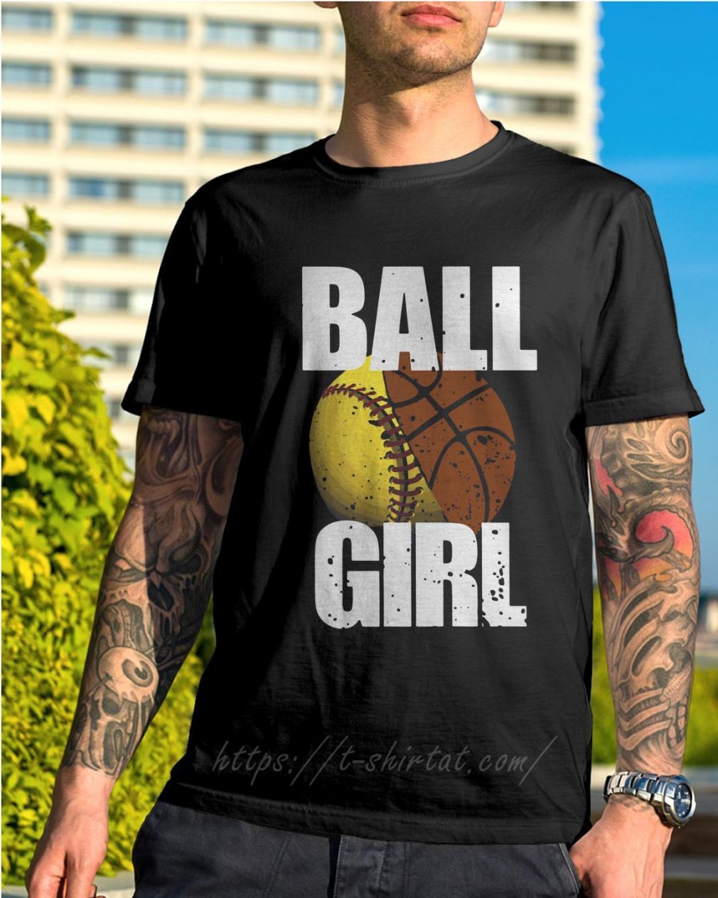 Baseball ball girl shirt
