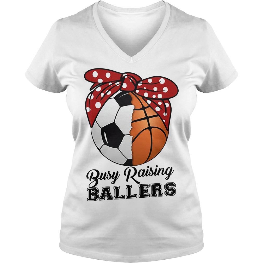 Baseball busy raising ballers V-neck T-shirt
