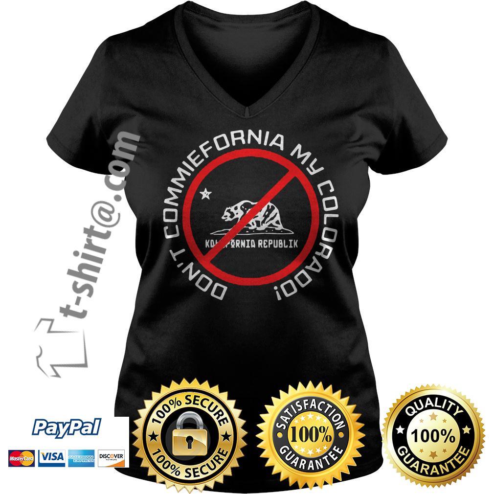 Bear Don't commiefornia my colorado republik V-neck T-shirt