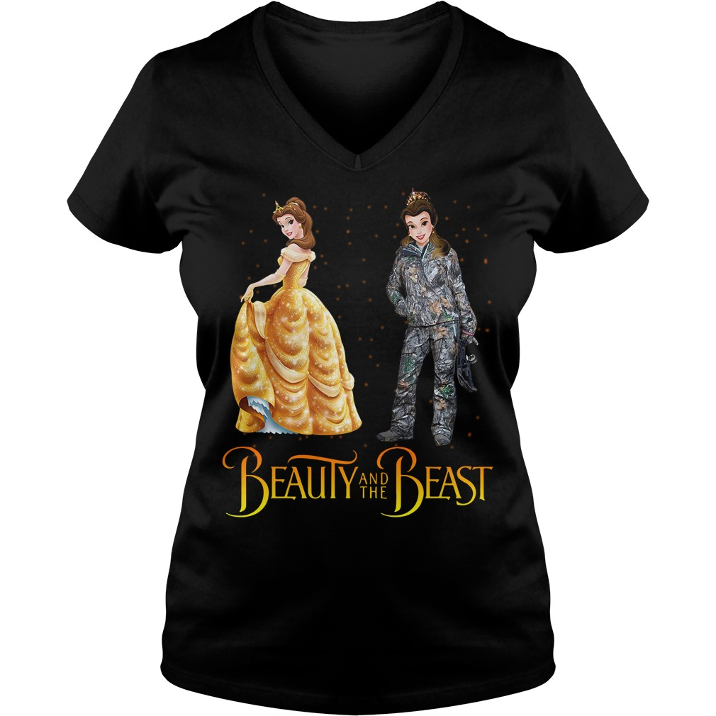 Bella Beauty and the Beast astronaut V-neck T-shirt