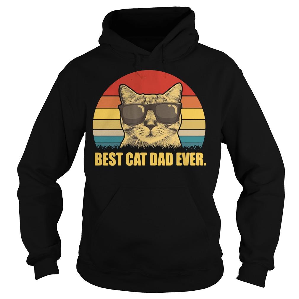 Best cat dad ever shirt vintage Hoodie