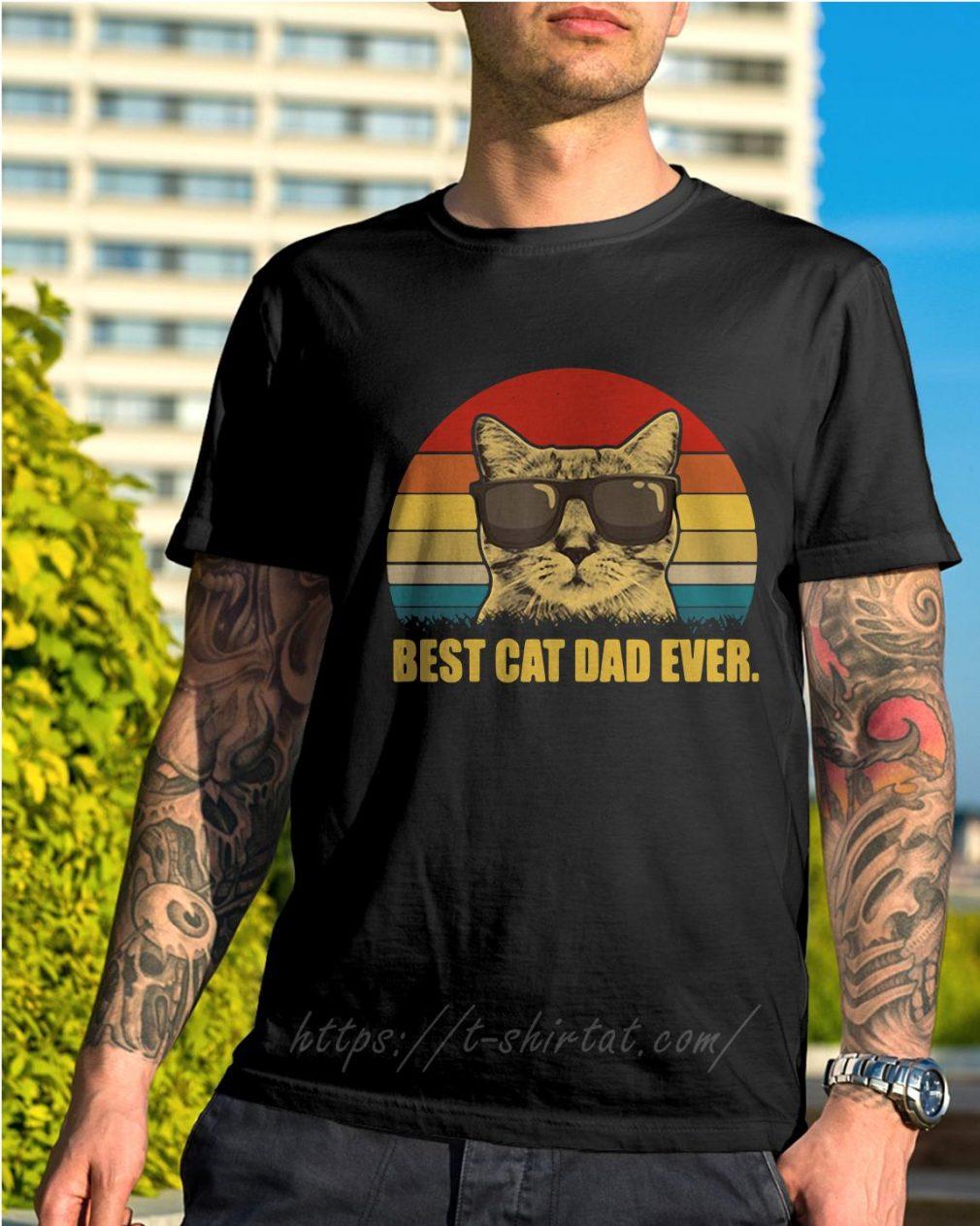 Best cat dad ever shirt vintage shirt