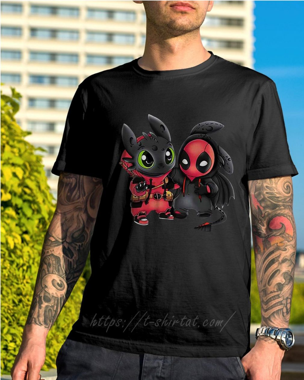Best friend Toothless and Deadpool shirt