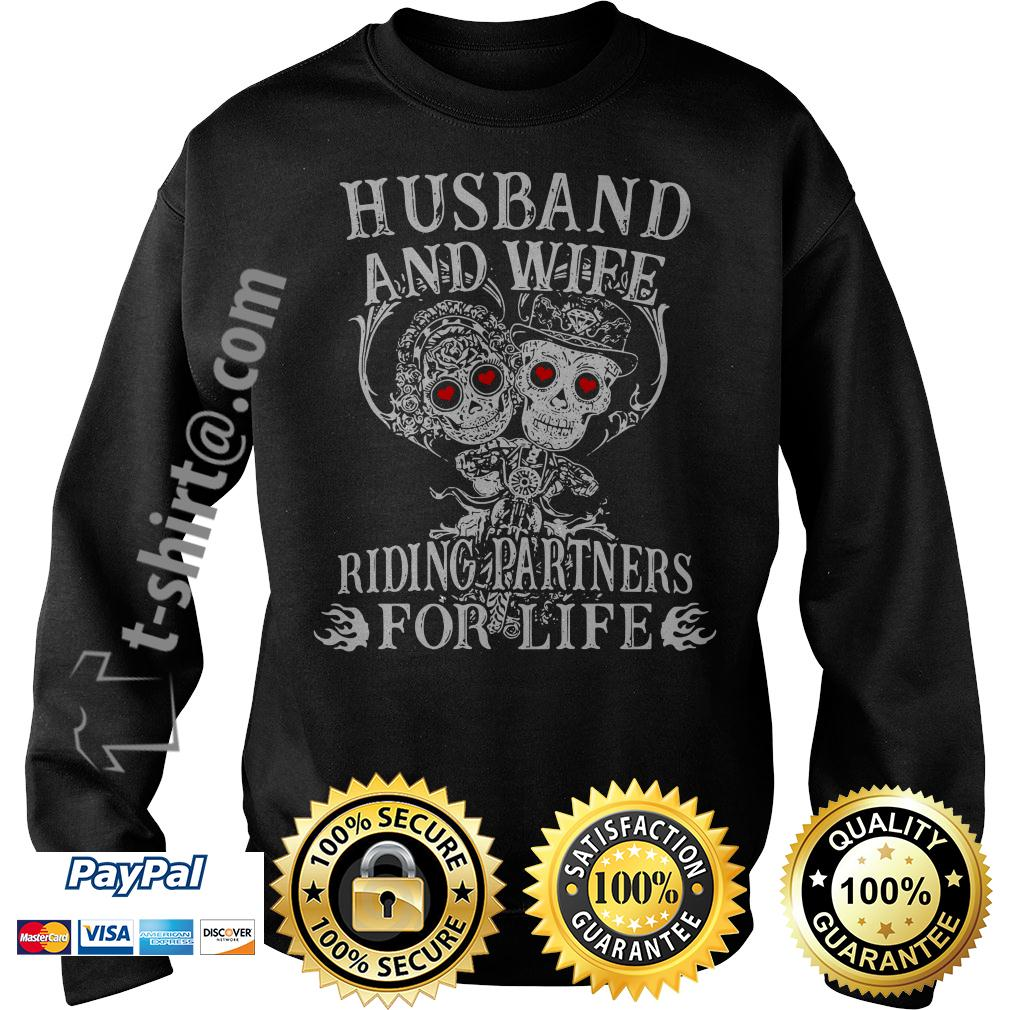 Biker husband and wife riding partners for life Sweater