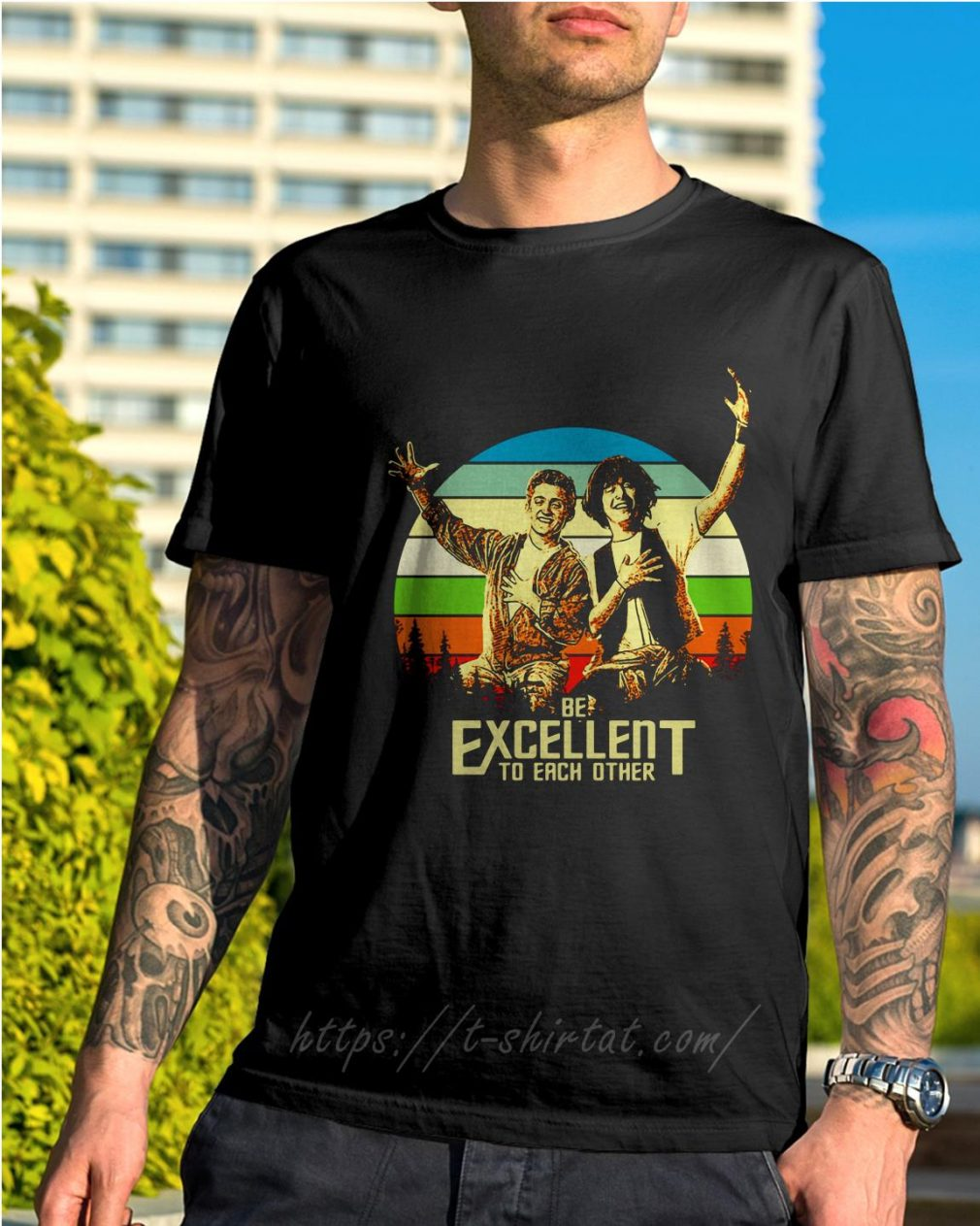 Bill and Ted's be excellent to each other vintage shirt
