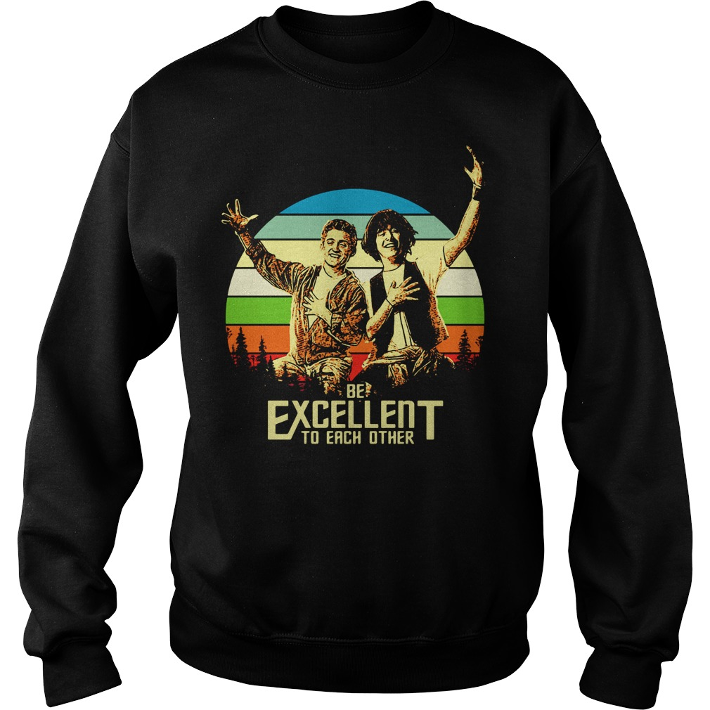 Bill and Ted's be excellent to each other vintage Sweater