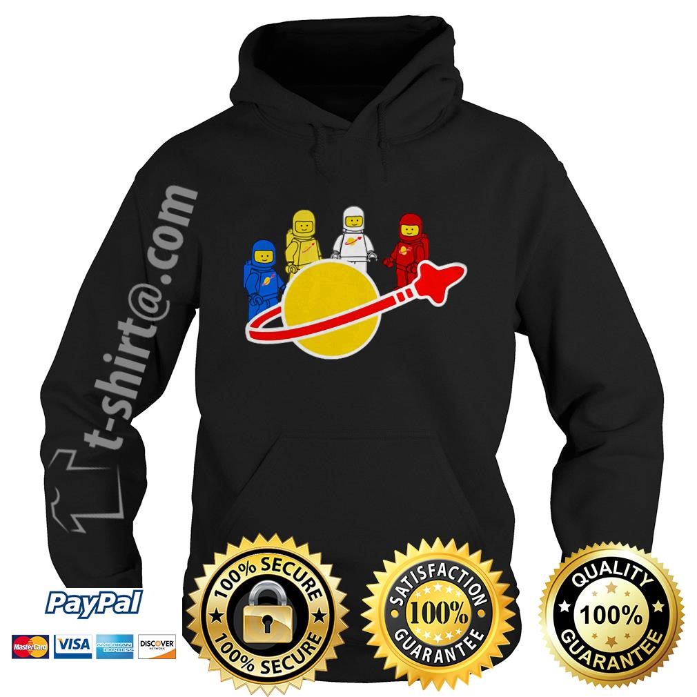 Blue yellow white and red Lego spaceman Hoodie