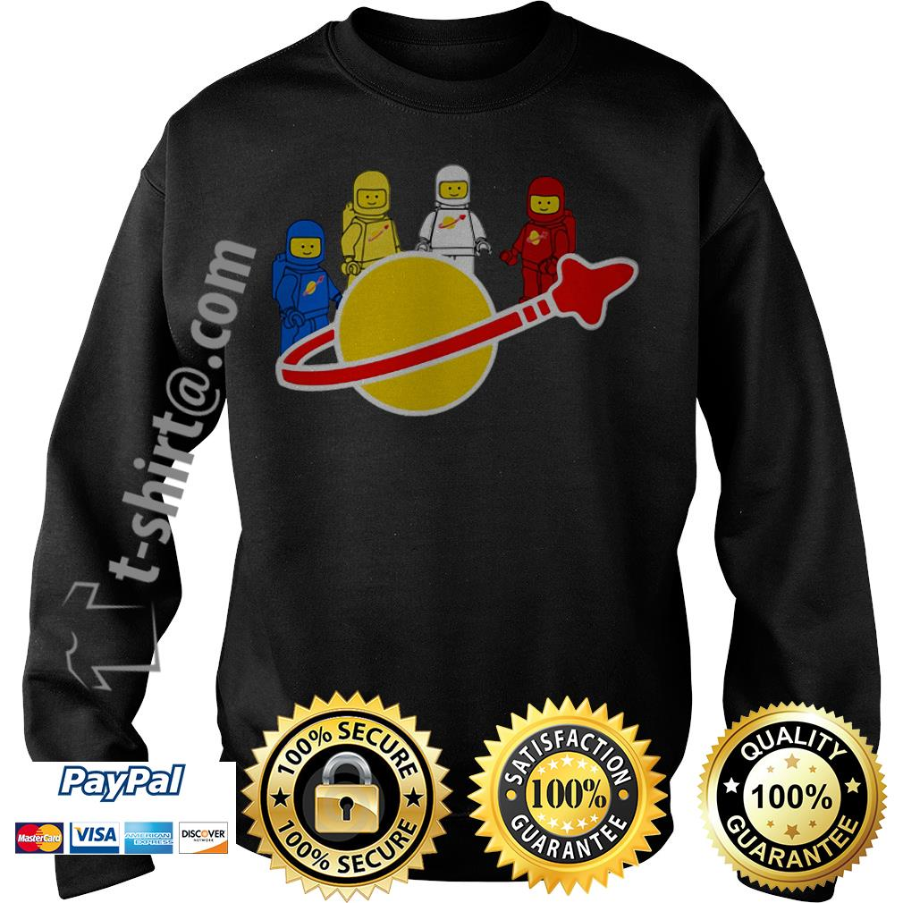 Blue yellow white and red Lego spaceman Sweater