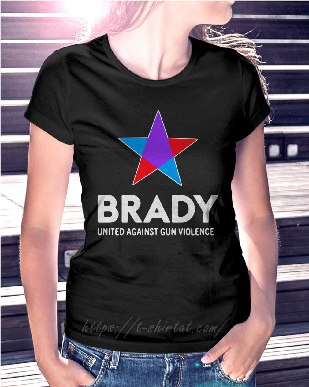 Brady united against gun violence take action not sides Ladies Tee