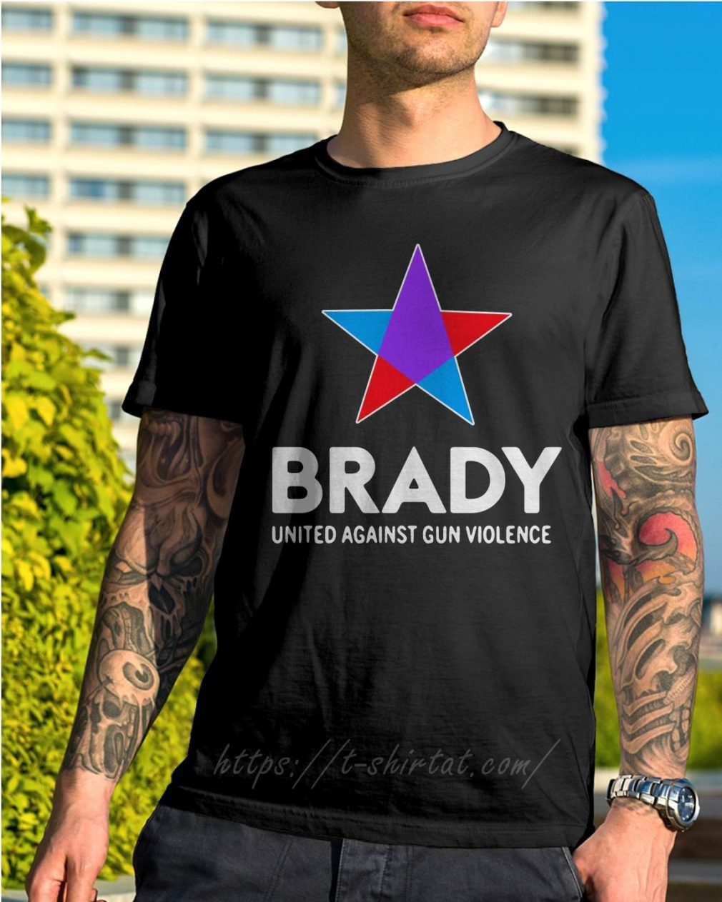 Brady united against gun violence take action not sides shirt