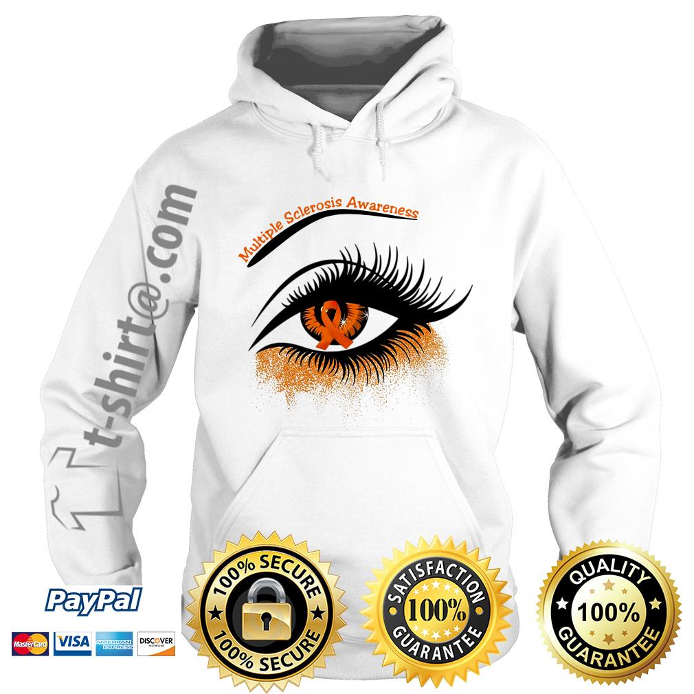 Cancer multiple sclerosis awareness in the eye Hoodie
