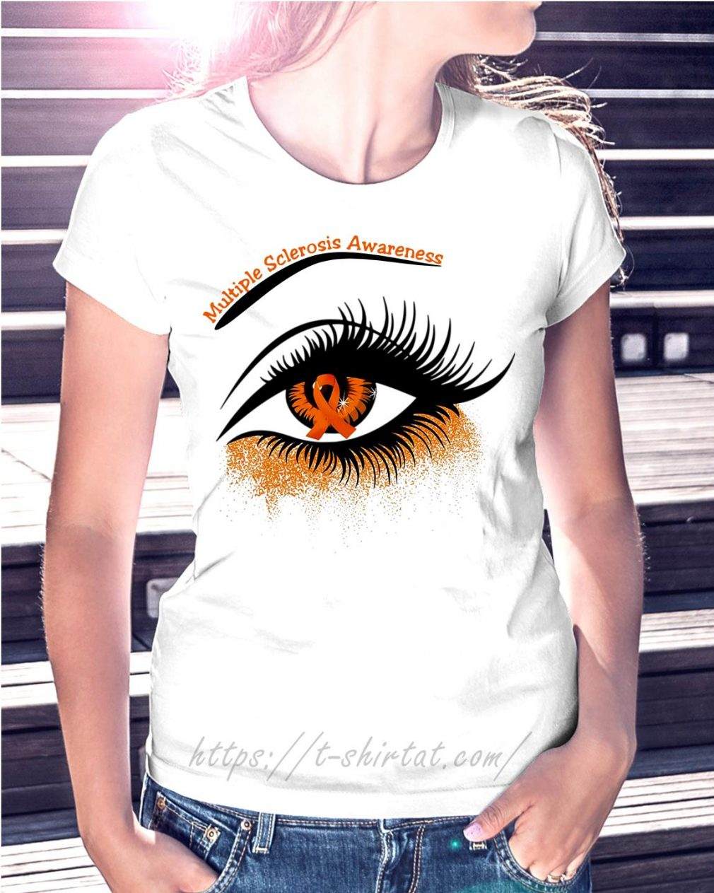 Cancer multiple sclerosis awareness in the eye T-shirt