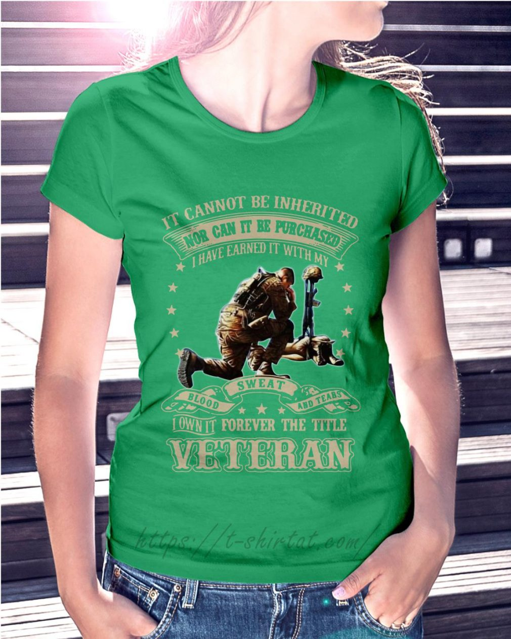 It cannot be inherited nor can it be purchased I have earned it Ladies Tee green