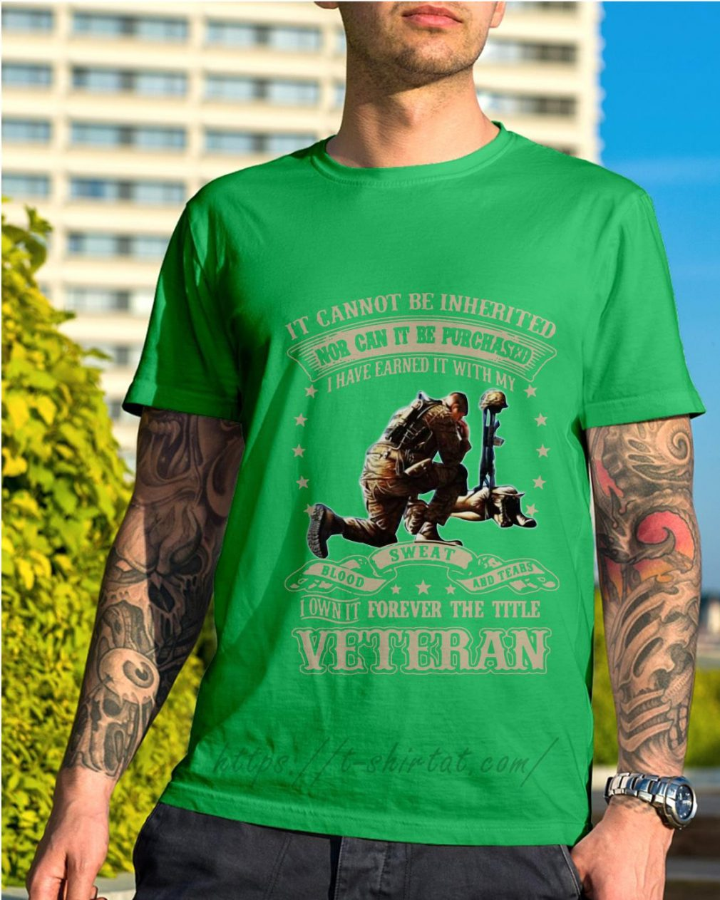 It cannot be inherited nor can it be purchased I have earned it shirt