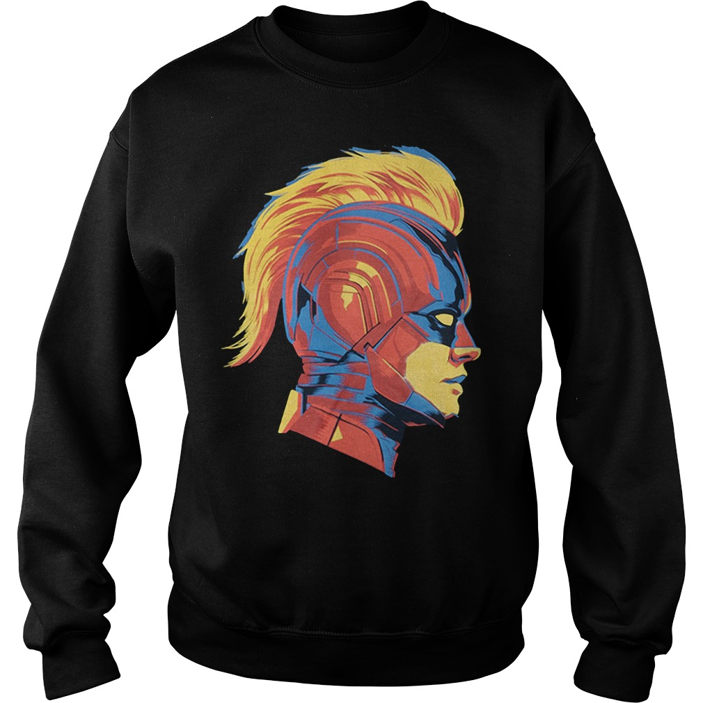 Captain Marvel Carol Danvers face Sweater