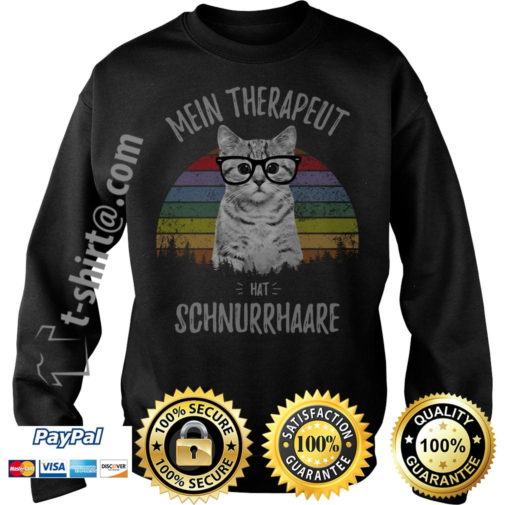 Cat mein therapeut hat schnurrhaare retro vintage Sweater