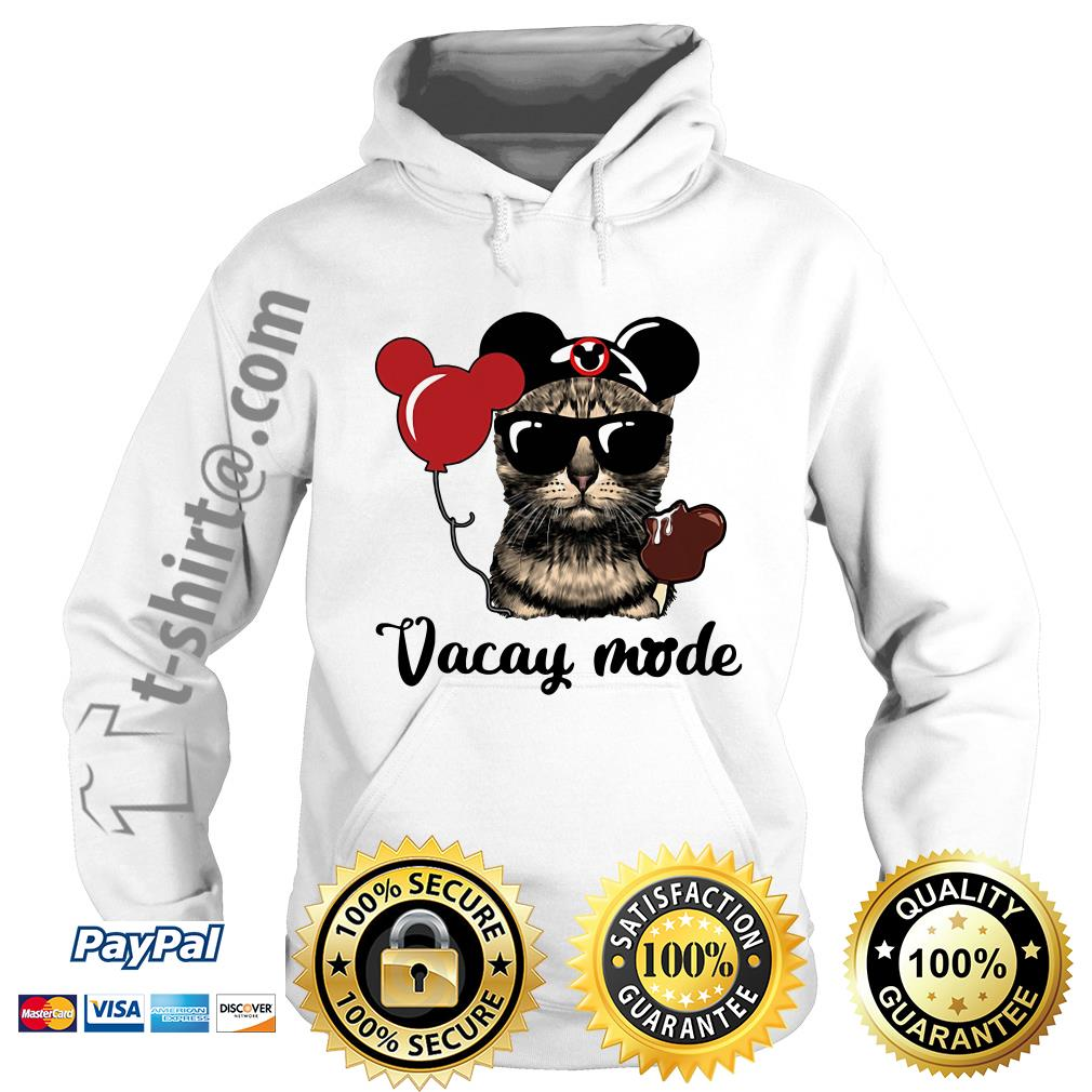 Cat with Mickey Mouse ears vacay mode Hoodie