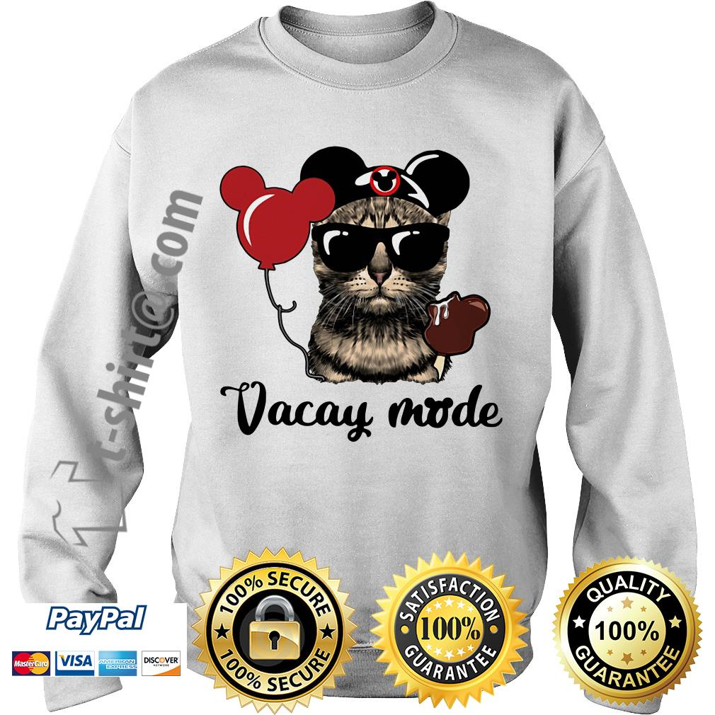 Cat with Mickey Mouse ears vacay mode Sweater