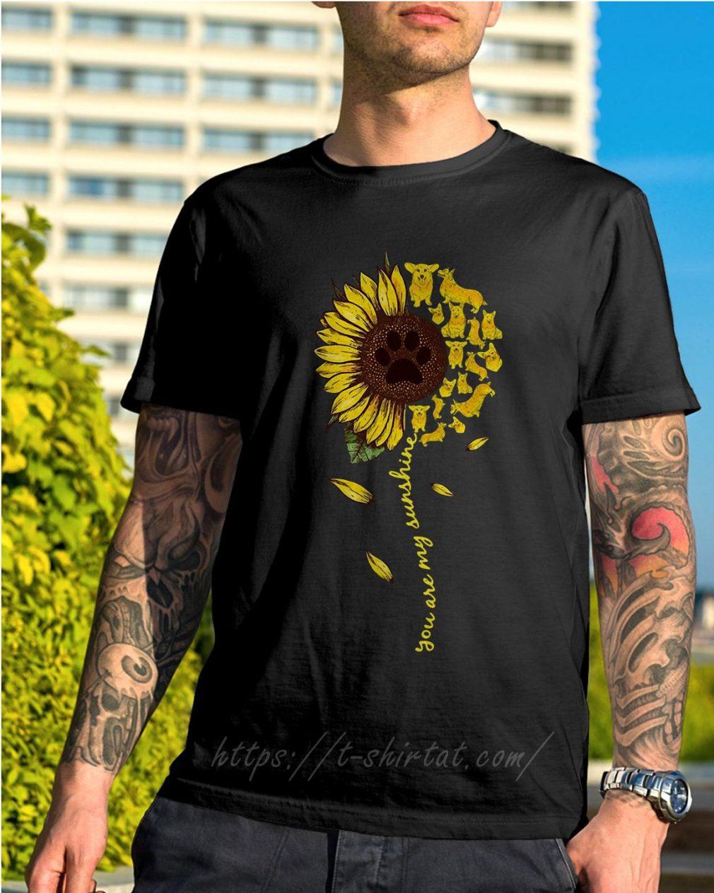 Dachshund sunflower you are my sunshine shirt