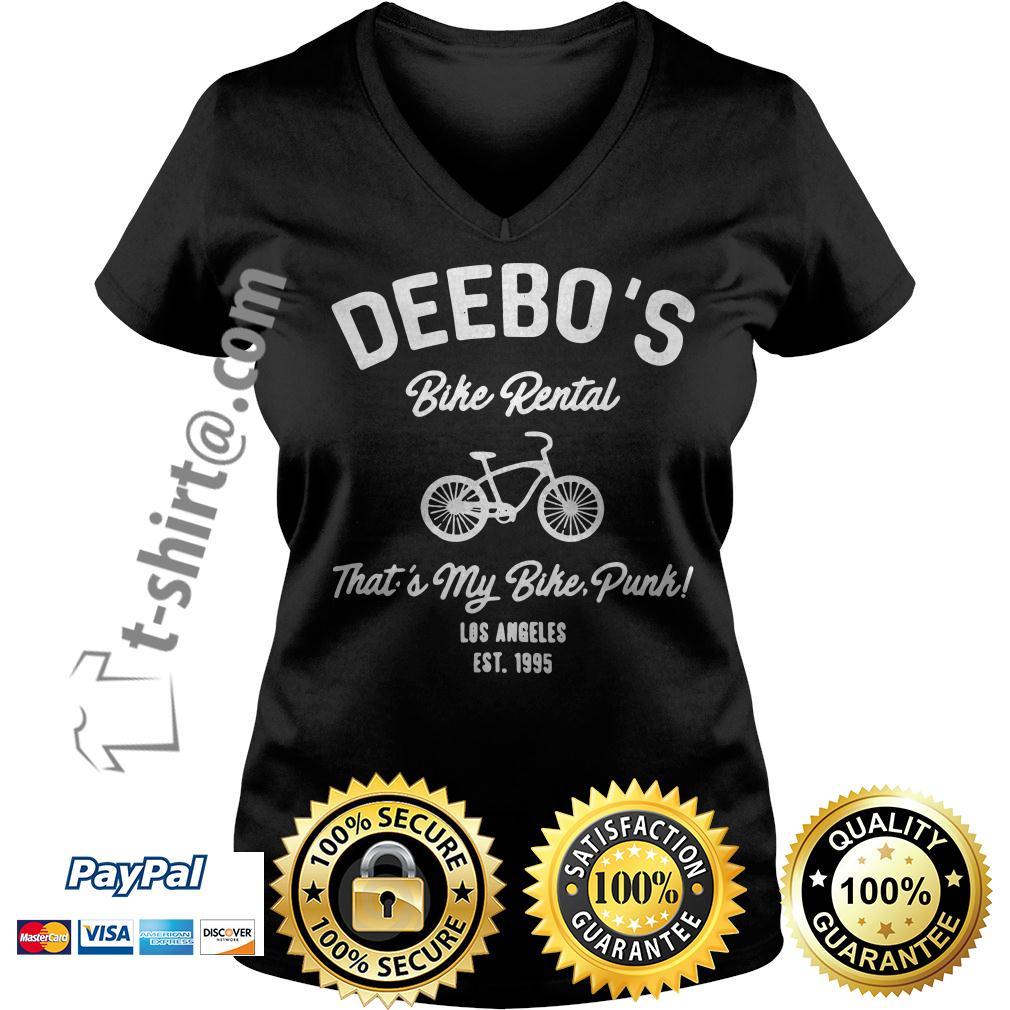 Deebo's bike rental that's my bike punk Los Angeles Est. 1995 V-neck T-shirt