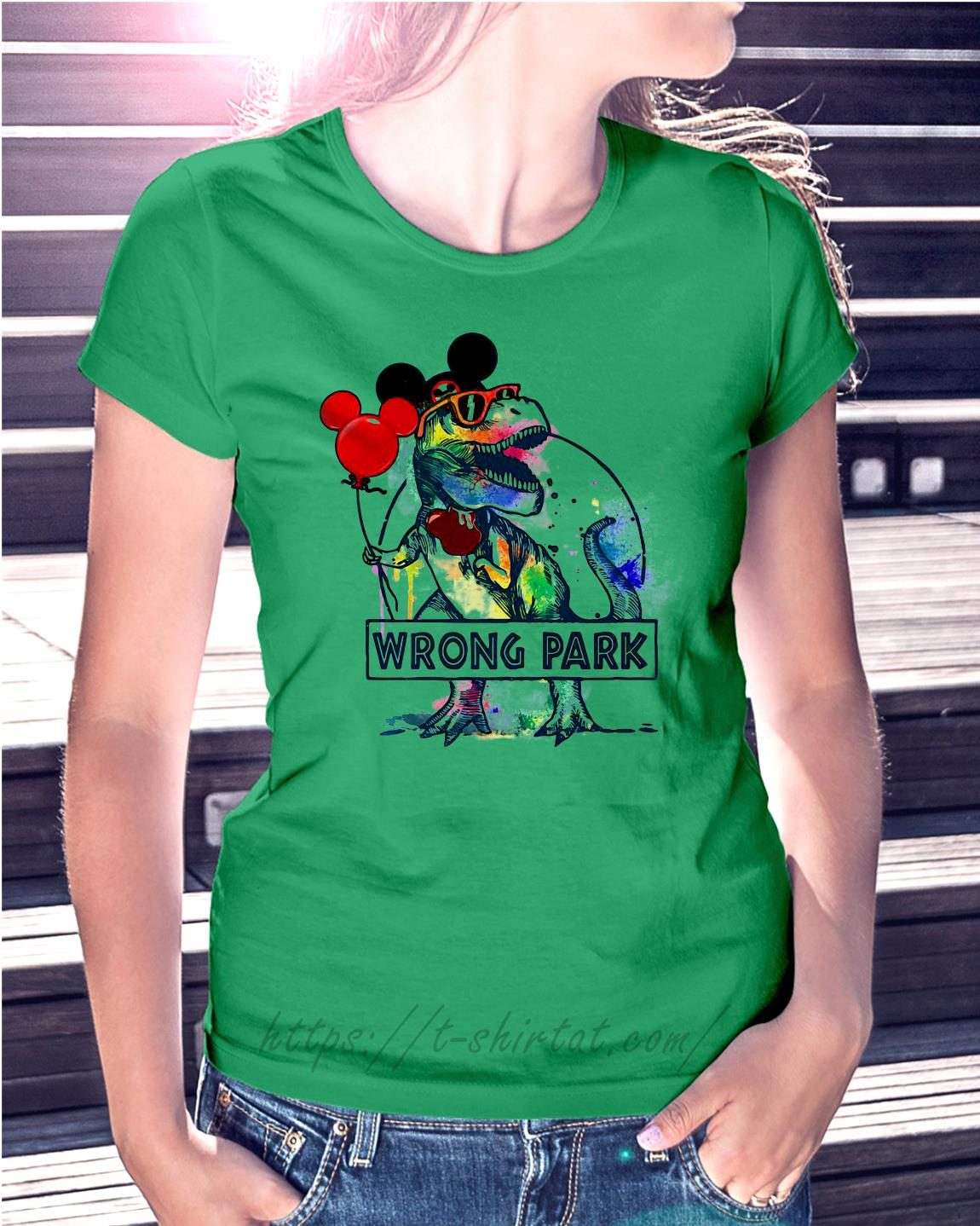 841061904 Dinosaur T-rex and Mickey Mouse wrong Park shirt, hoodie, sweater