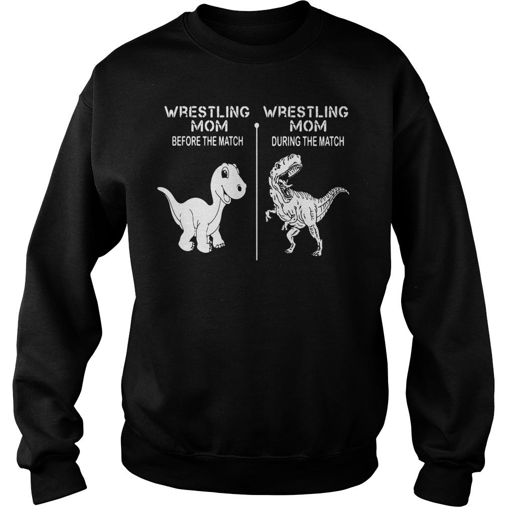 Dinosaur wrestling mom before the match wrestling mom Sweater