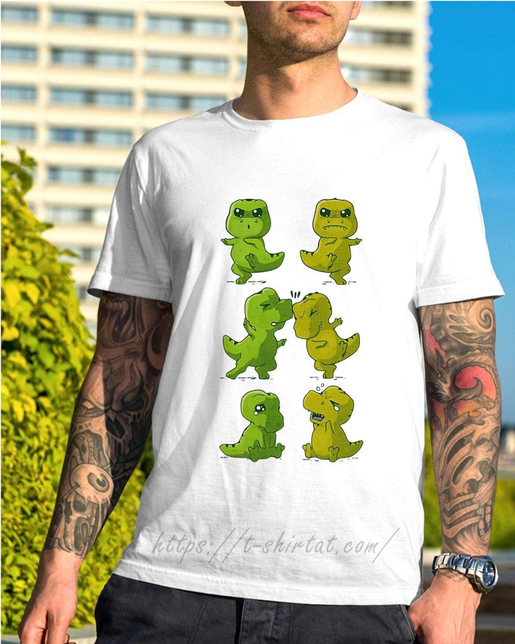 Dinosaurs T-rex fusion dance shirt
