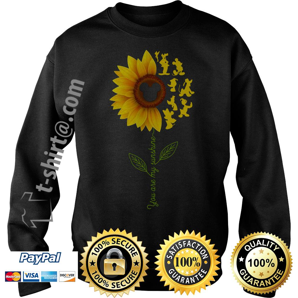 Disney characters sunflower you are my sunshine Sweater