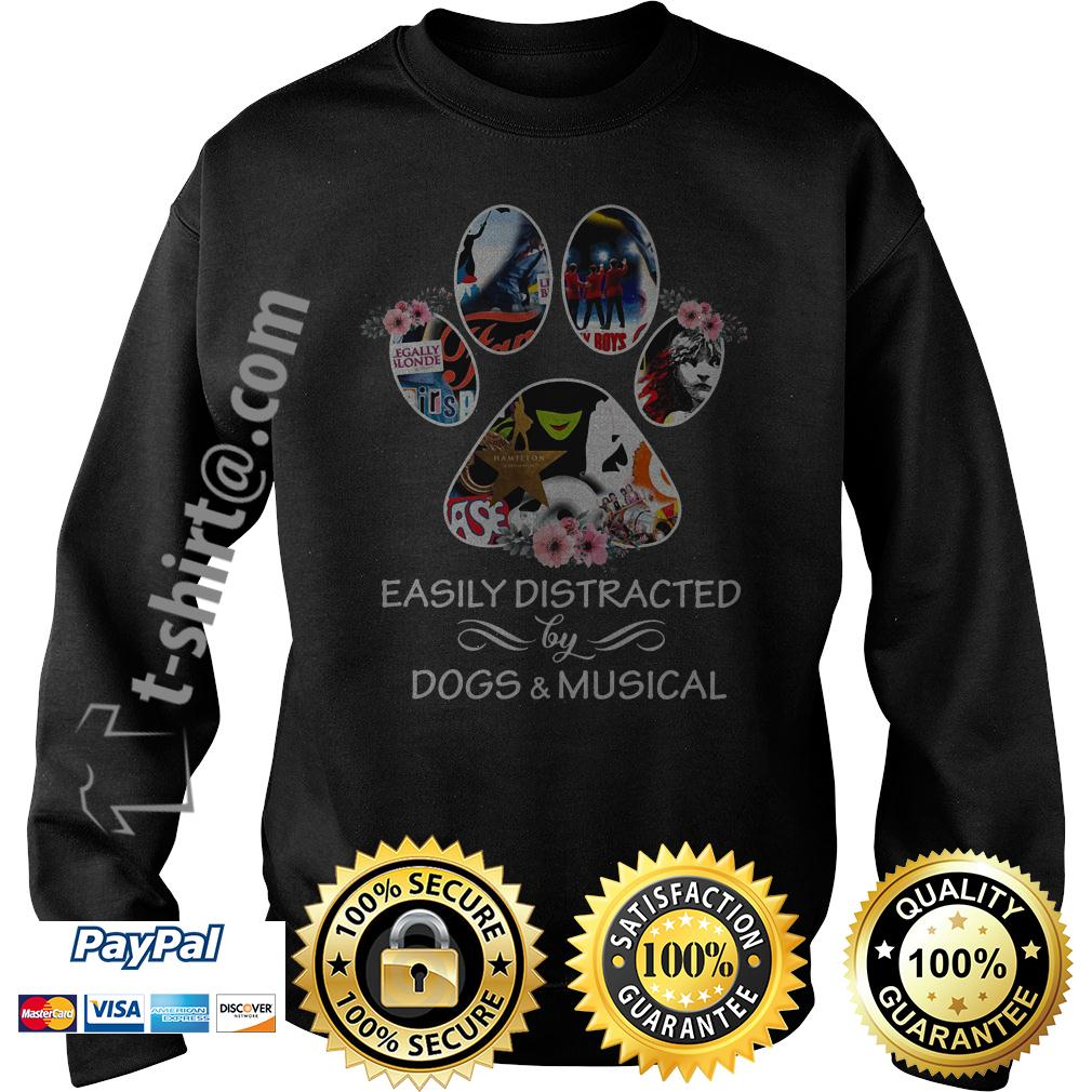 Dog paw easily distracted by dogs and musical Sweater