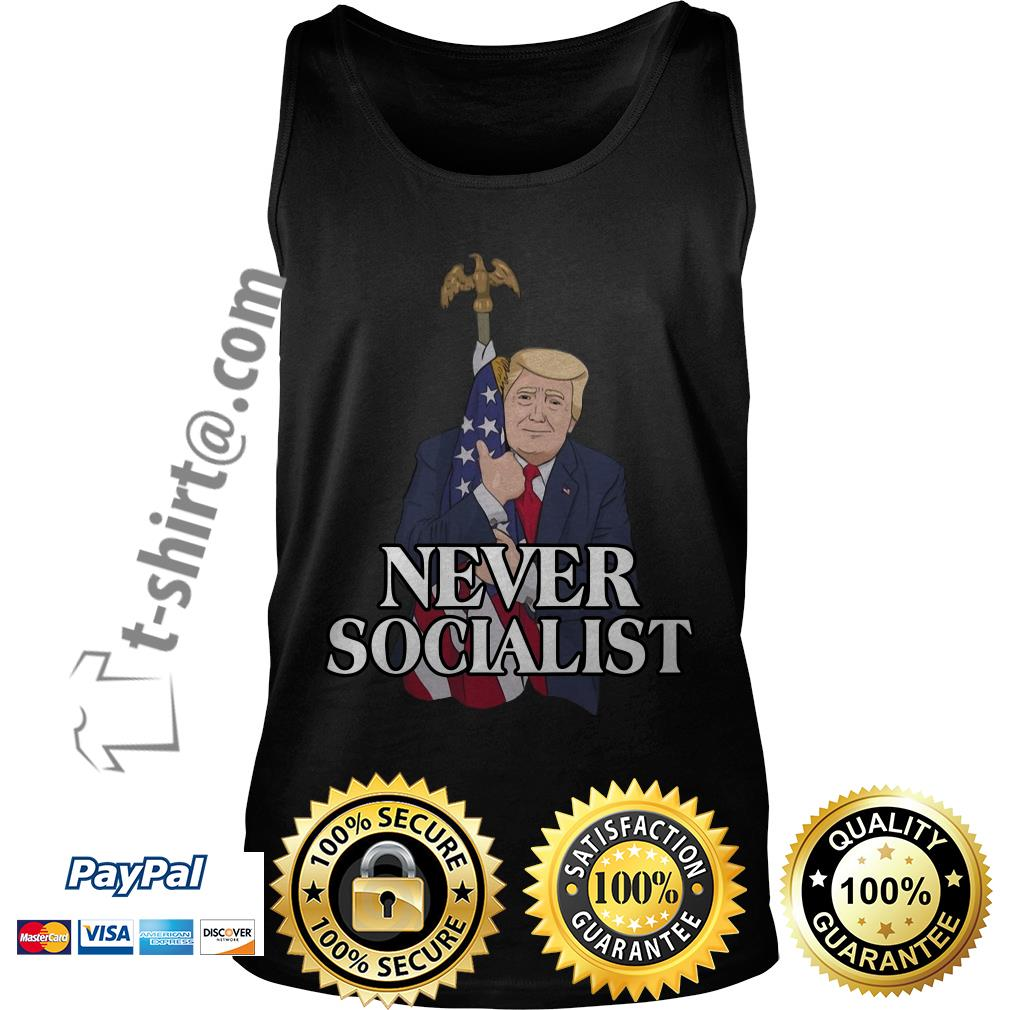Donald Trump love the American flag never socialist Tank top