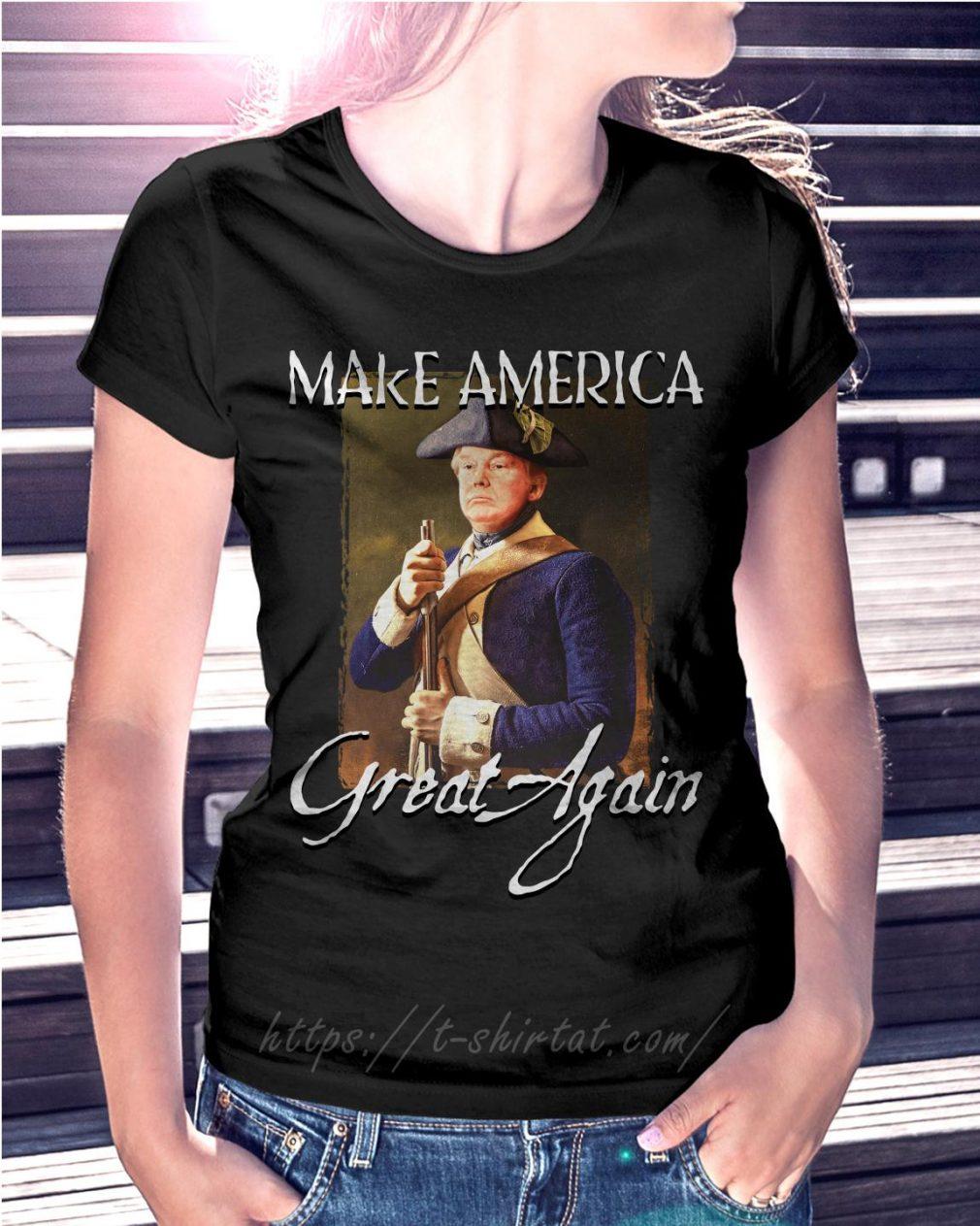 Donald Trump make america great again Ladies Tee