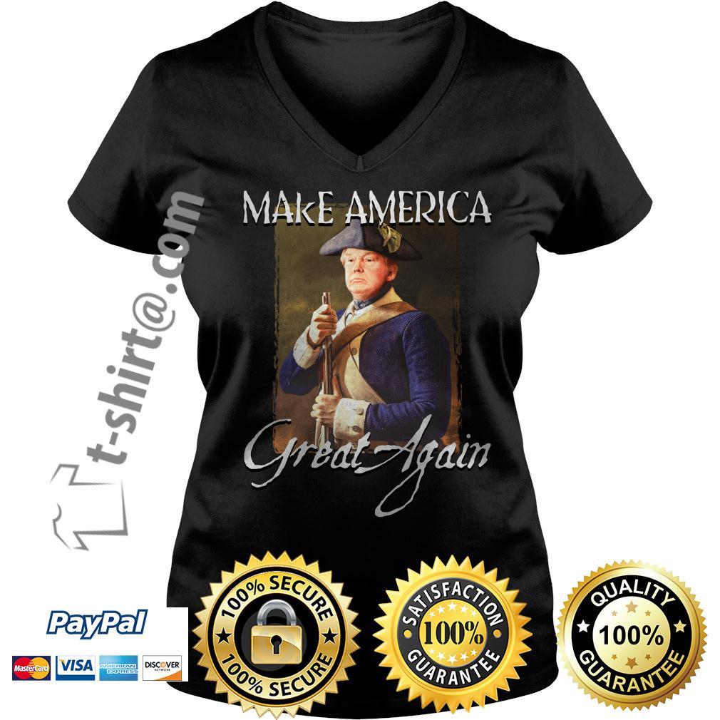 Donald Trump make america great again V-neck T-shirt