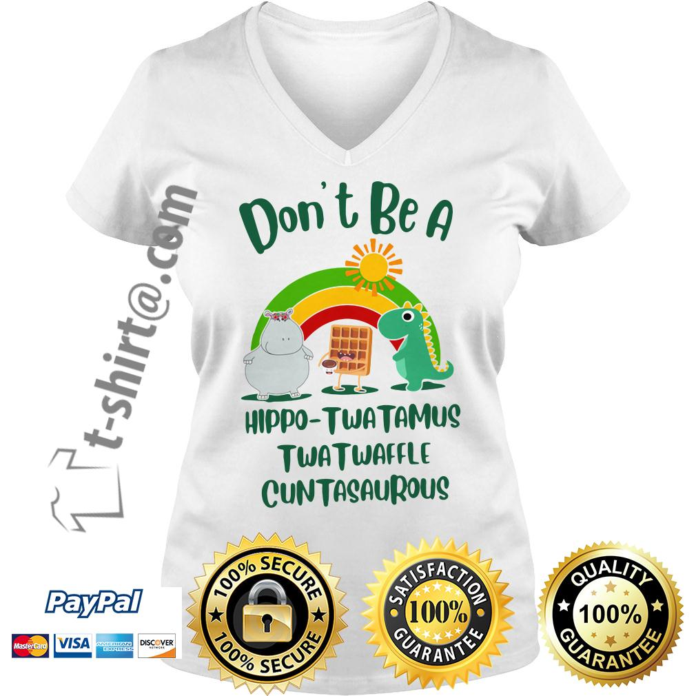 Don't be a Hippo Twatamus Twatwaffle cuntasaurous V-neck T-shirt