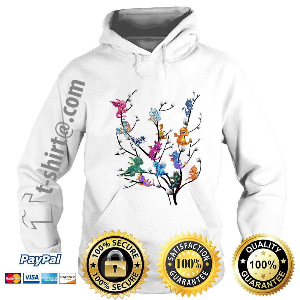Dragons in willow tree Hoodie