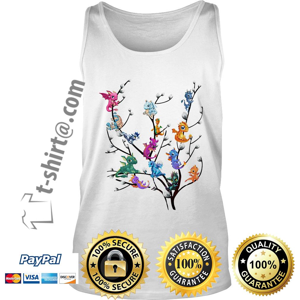 Dragons in willow tree Tank top