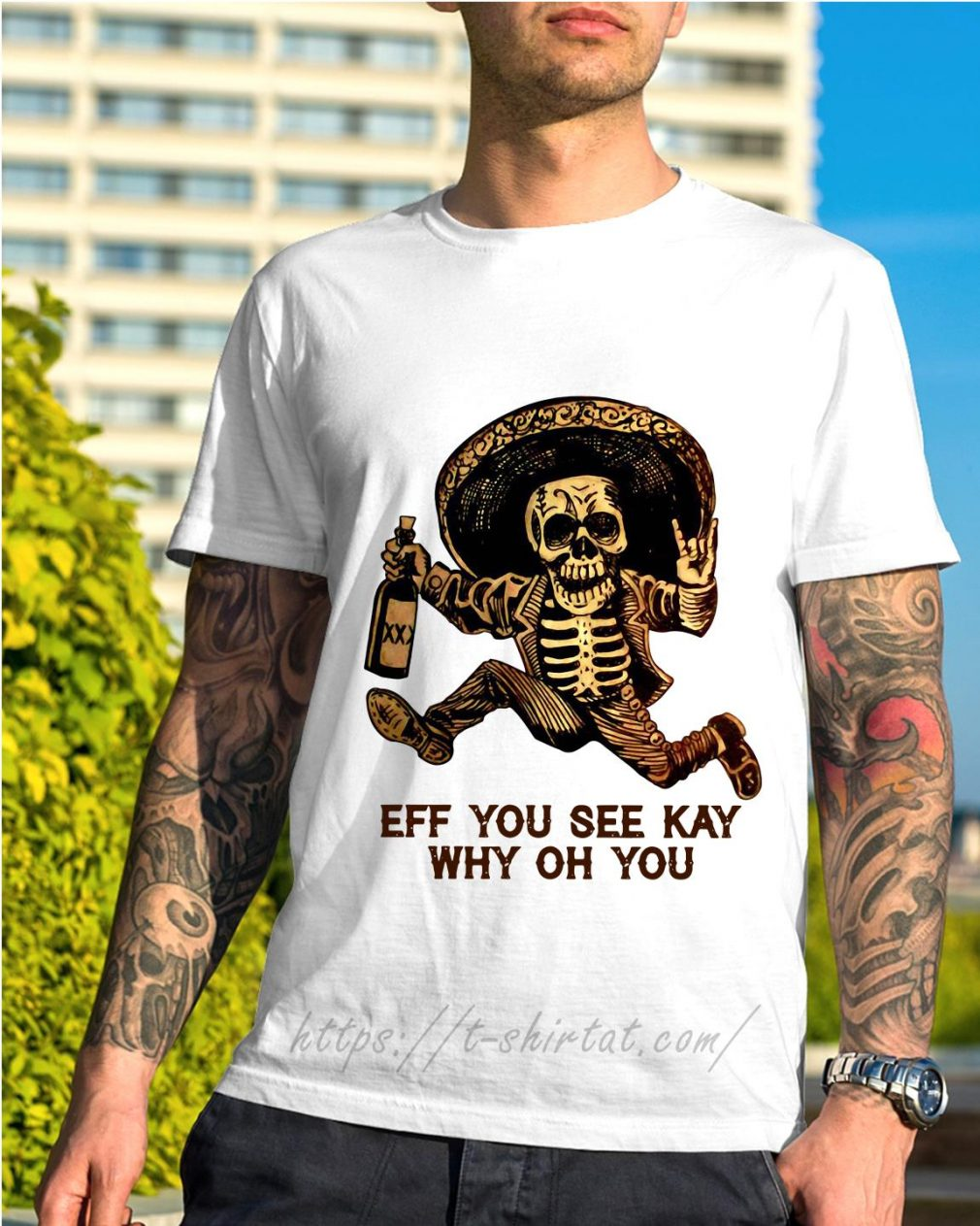 Elegance Outlaw Skull eff you see kay why oh you shirt