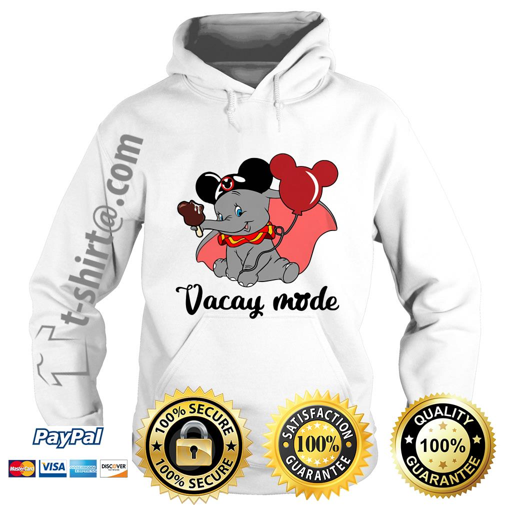 Elephant with Mickey Mouse ears vacay mode Hoodie